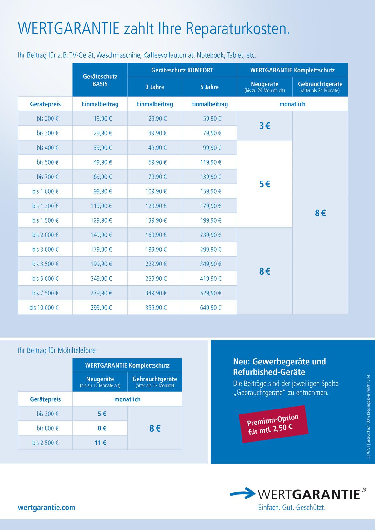 wertgarantie-leistungsuebersicht-preise
