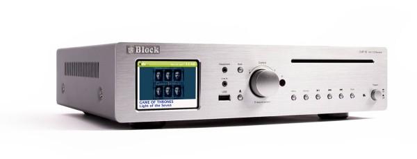 Block CVR-10 Internet-Receiver Silber Aussteller